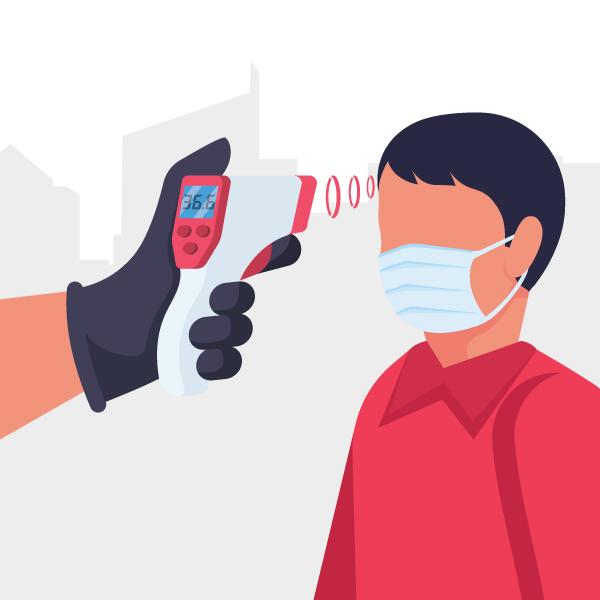 Temperature and Mask check for NoBrokerHood