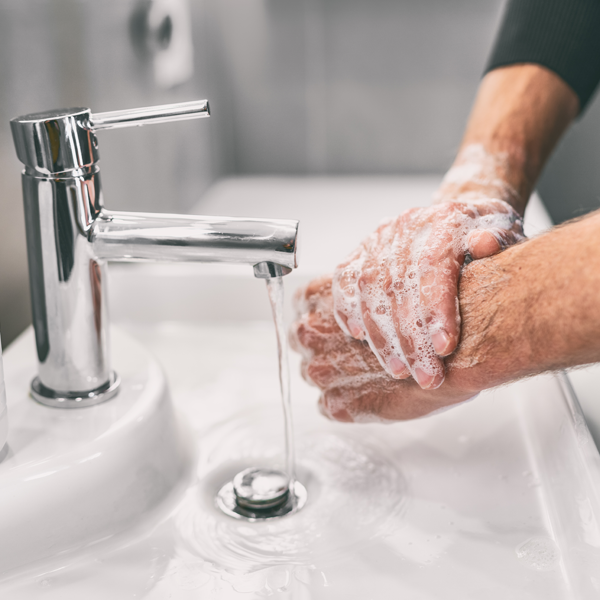 Washing hands reduce use of hand sanitiser