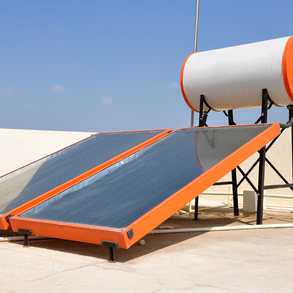 Solar panels for water heater