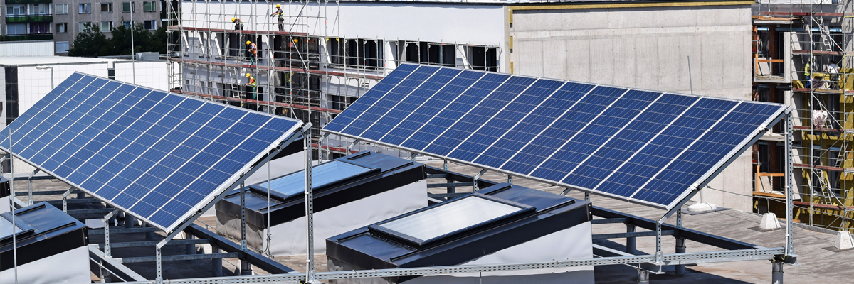 Solar panels for residential societies