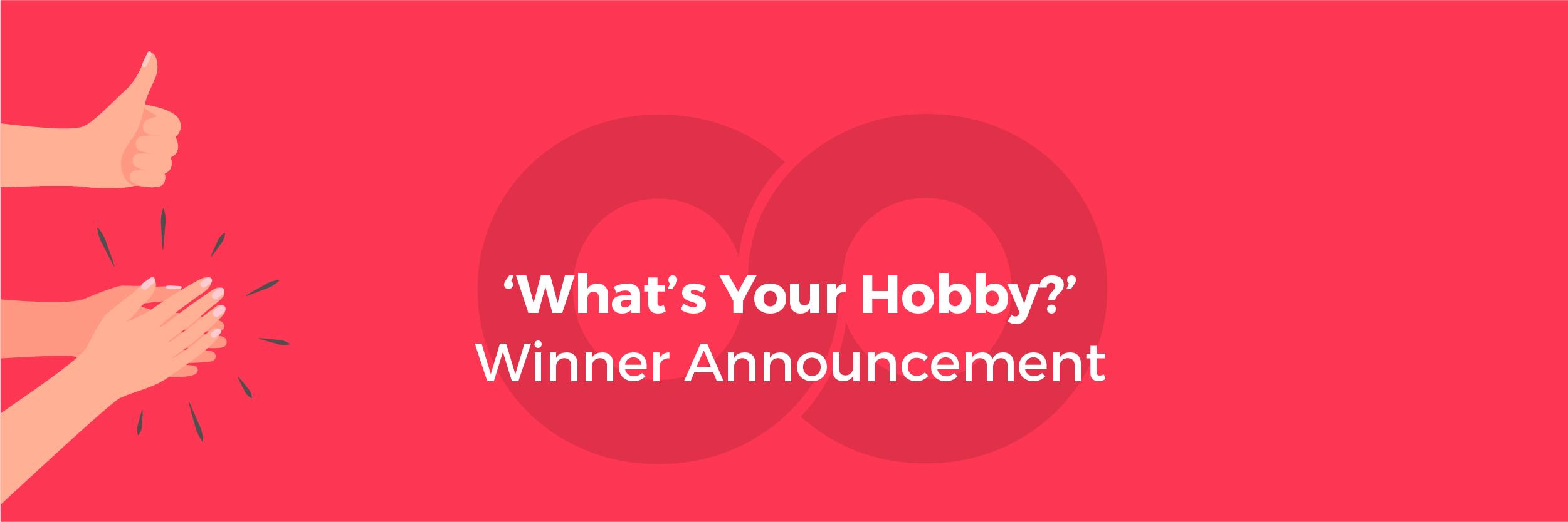 Hobby Winner Announcement